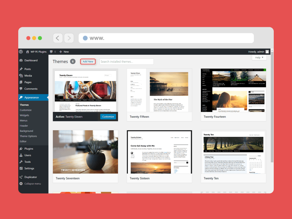 Choose WordPress Theme & Templates