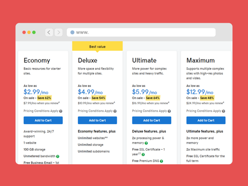 Select a Package & Set Up Your Hosting Account