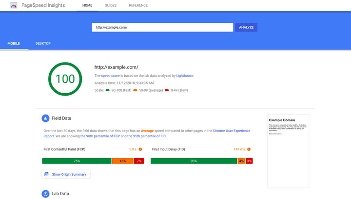 monthly seo report page speed