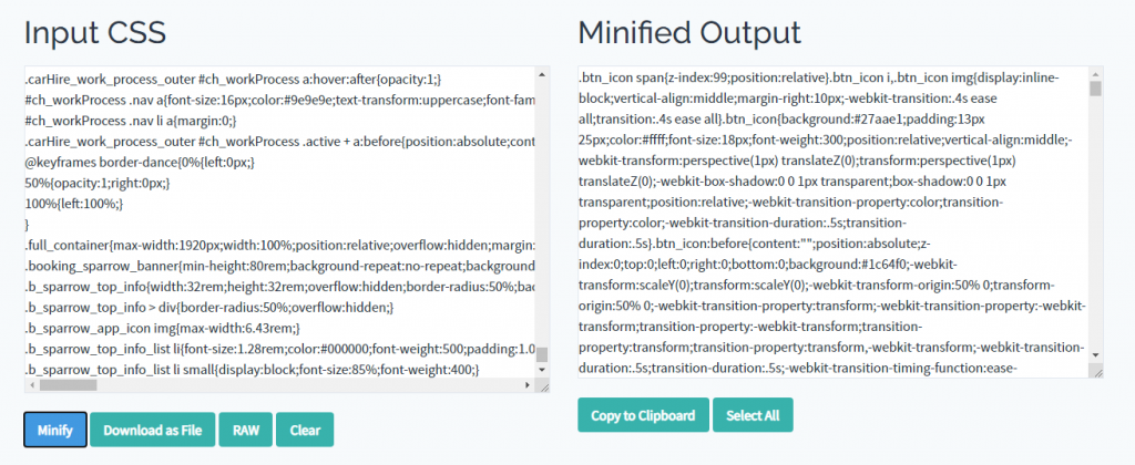 THE CSS MINIFIER PLUGIN