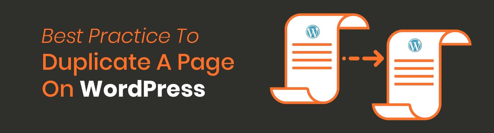 duplicate a page on wordpress